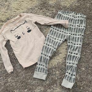 Land of Nod Toddler Girl cat pajamas 2T